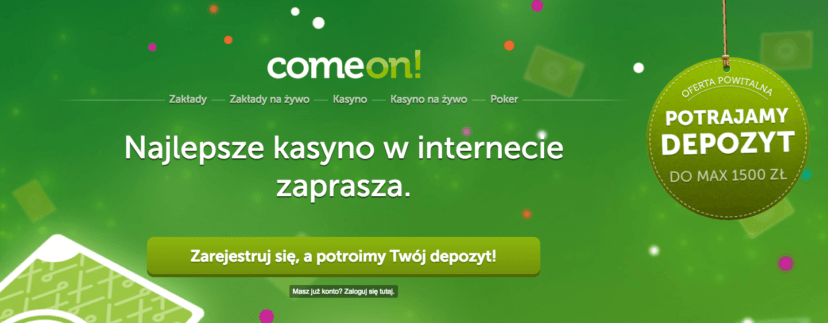 ComeOn - Welcome bonus